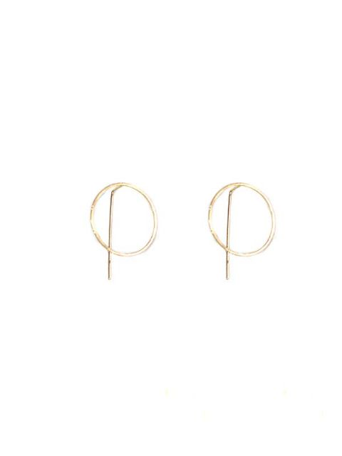 HARPER PULL THROUGH EARRINGS ROSE GOLD